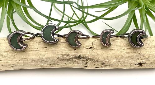 Green Aventurine Moon Ring