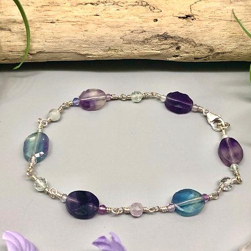 Oval Fluorite Bracelet
