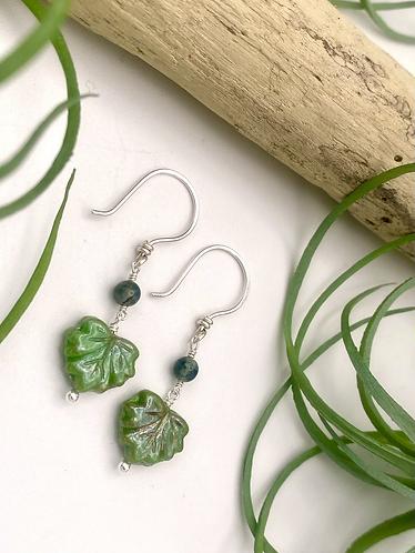 Olive Leaf Peeper Earrings