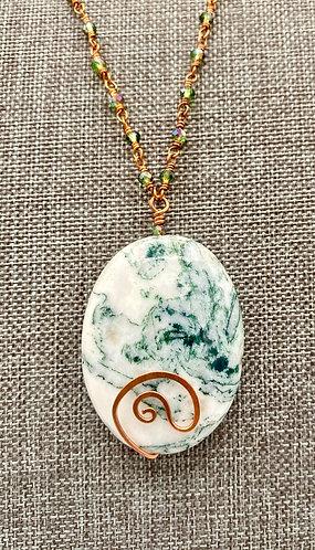 Tree Agate Copper Necklace