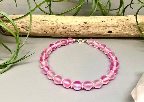 "Pink ""Mermaid"" Aura Quartz Bracelet"