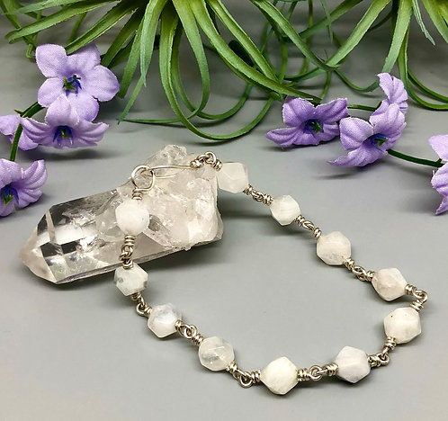 Star Cut Moonstone Bracelet