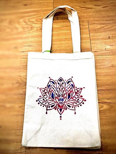 Lotus Reusable Canvas Tote Bag