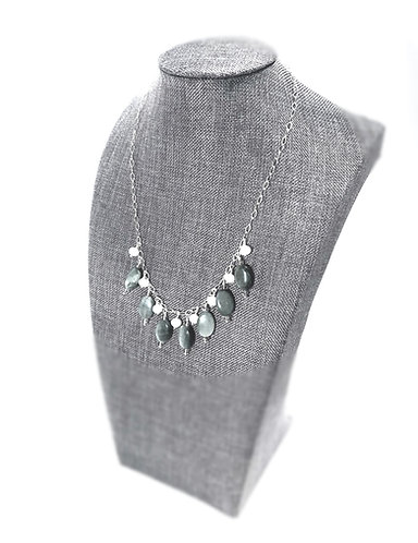 Cat's Eye and Crystal Necklace