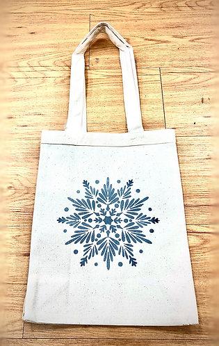 Snowflake Reusable Canvas Tote Bag