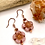 Thumbnail: Czech Glass Flower Earrings