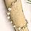 Thumbnail: White Lace Agate Shell Charm Bracelet