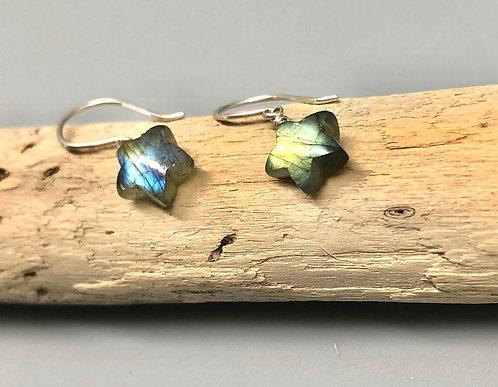 Labradorite Star Earrings