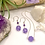 Thumbnail: Purple Jade Daisy Earrings