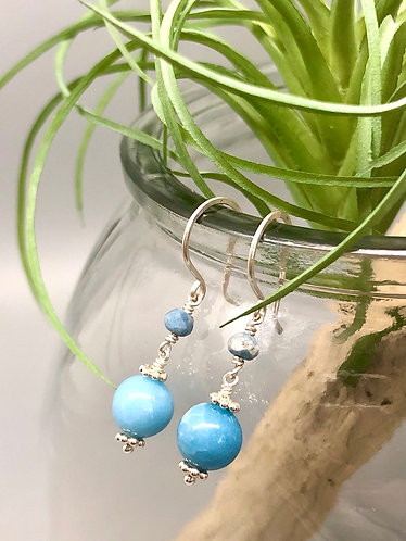 Larimar and Aquamarine Earrings