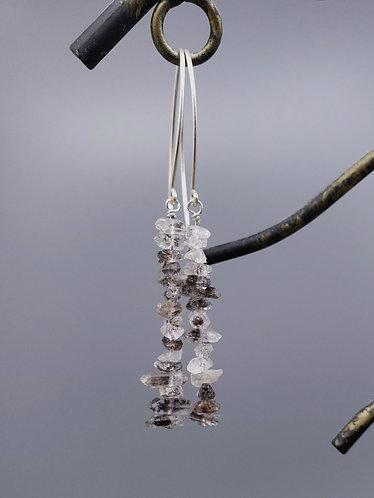 Gray Quartz Chip Earrings