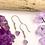 Thumbnail: Purple Fluorite Flower Earrings