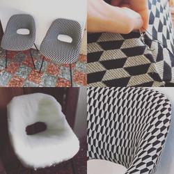 Rénovation complète de ces chaises vinta