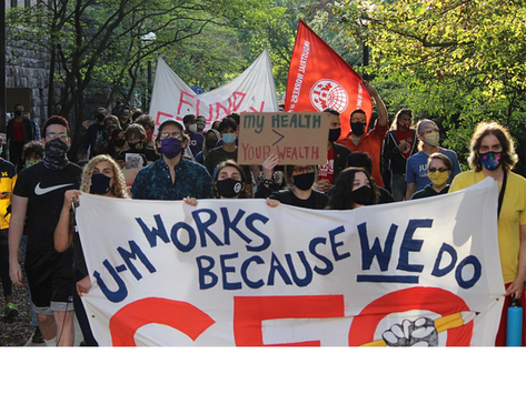 A Look at the GEO Strike in Michigan Fighting the University's Reopening Plan