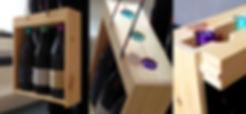 Caja Itiner es una caja expositora para un pack de tres botellas de vino.