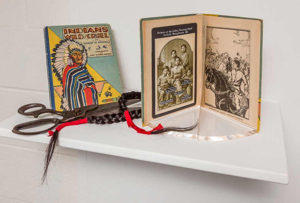 Altered Book: Indians Wild and Cruel