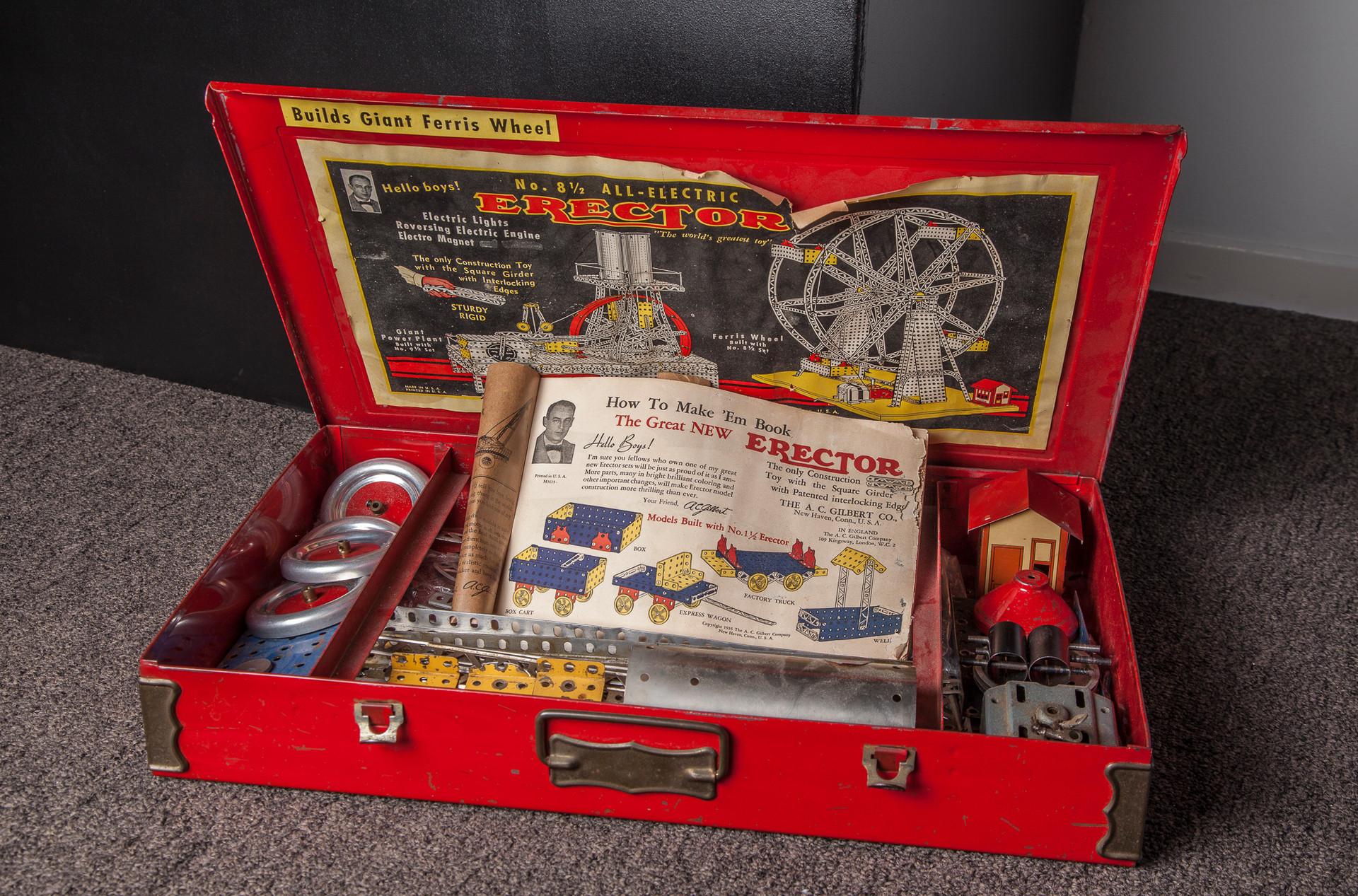 Vintage 1950s Erector Set in original box.