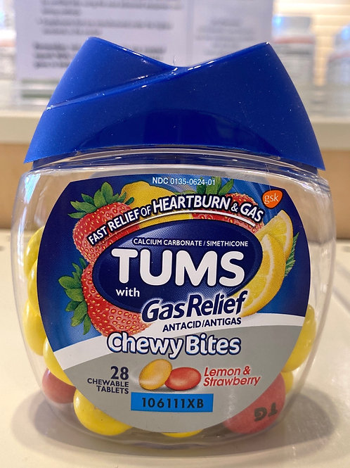 TUMS Antacid/AntiGas ChewyBites - 28Count