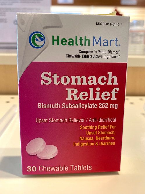 HM Stomach Relief Chewable Tablets - 30 Count