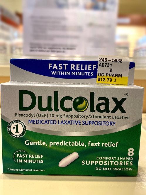 Dulcolax (Bisacodyl 10mg Suppository/Stimulant Laxative) - 8Count