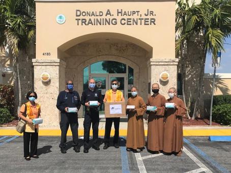 2020-05-21 邁阿密佛光人關懷社區 口罩捐贈消防第一線