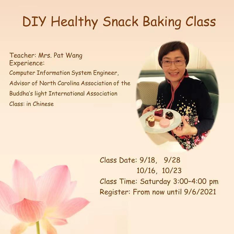 DIY Healthy Snack Baking Class