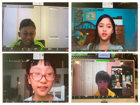 2020-08-02 疫情期間,邁阿密協會波卡分會孩童「打卡小沙彌看世界」