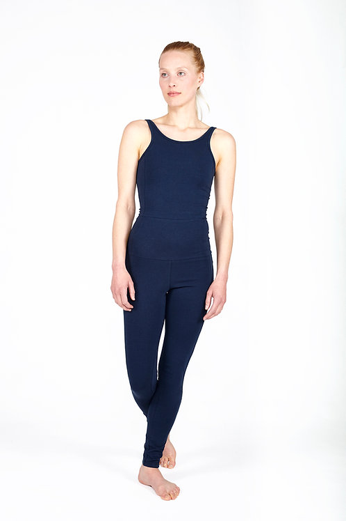 Yoga Jumpsuit Tight DEEP BLUE