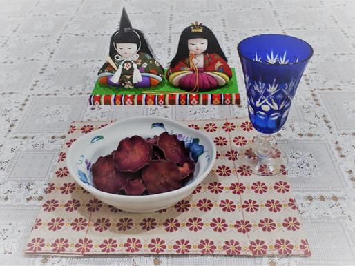 紫芋チップスでおしゃれに