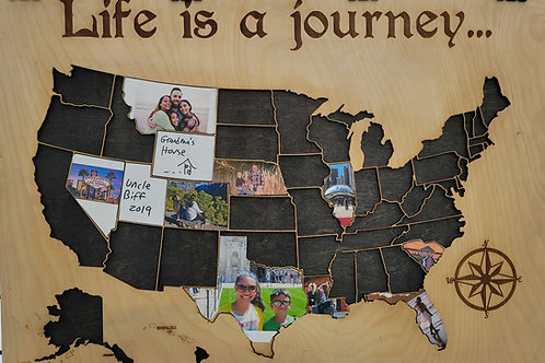 Life is a Journey Travel Map