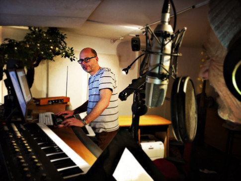 Andreas and Nick in the studio