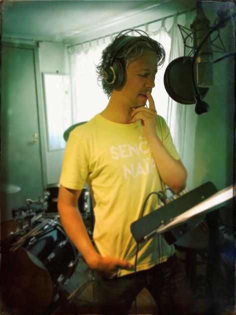 Jakob Setterberg in the studio