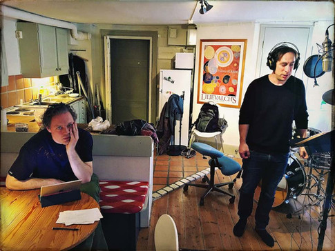 Michael Lindgren and Per Andersson in the studio