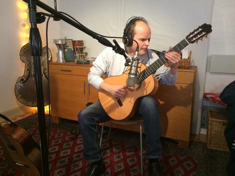 Pontus af Klinteberg in the studio
