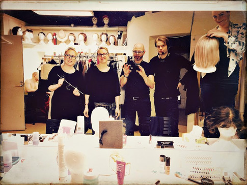 Backstage crew at Scalateatern