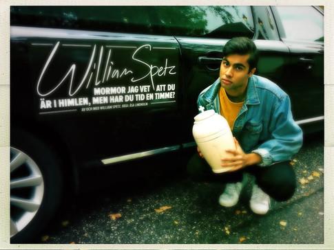 William Spetz recording his trailer for the tour