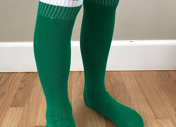 Green Long Athletic Knee Socks
