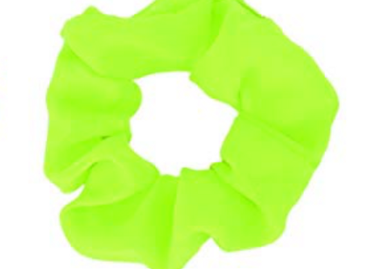 Green Hair Scrunchie