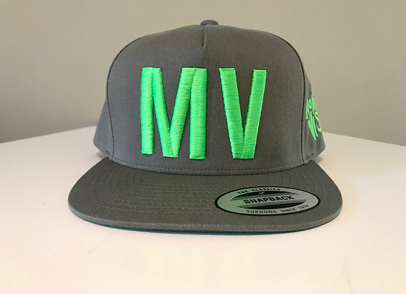 MV Puff Embroidery Logo Hat in Grey - SOLD OUT