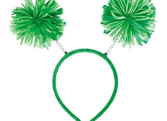 Green Pom Pom Headband