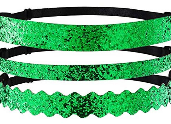 Adjustable Green Glitter Headband