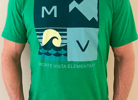 Men's Mountain / Ocean Slim Fit Shirt in Green