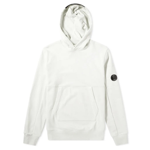 Diagonal Raised Fleece Pullover Lens Hoodie 103 GAUZE WHITE