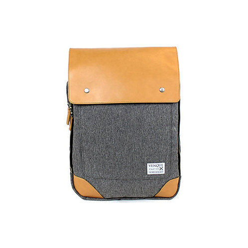 Flat Square Backpack - Grey