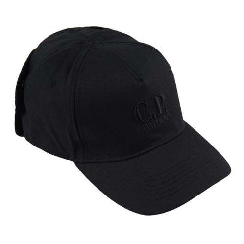 Gabardine Goggle Cap 999 BLACK