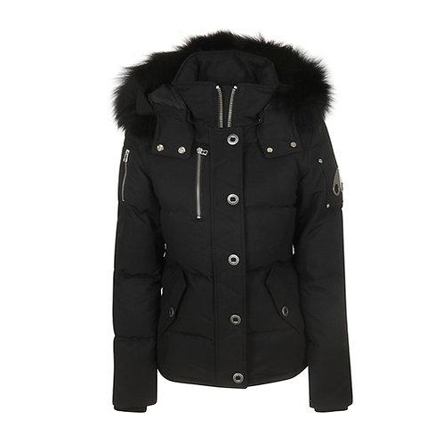 Women's 3Q Jacket - Black, Black Fox Fur