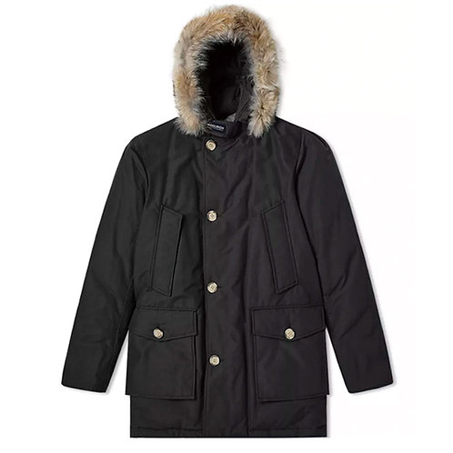 Men's Arctic Parka Detachable Fur -BLACK
