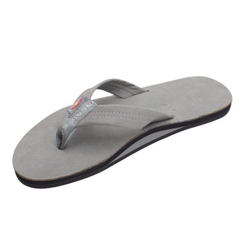 Single Layer Premier Leather with Arch Support - Cool Grey