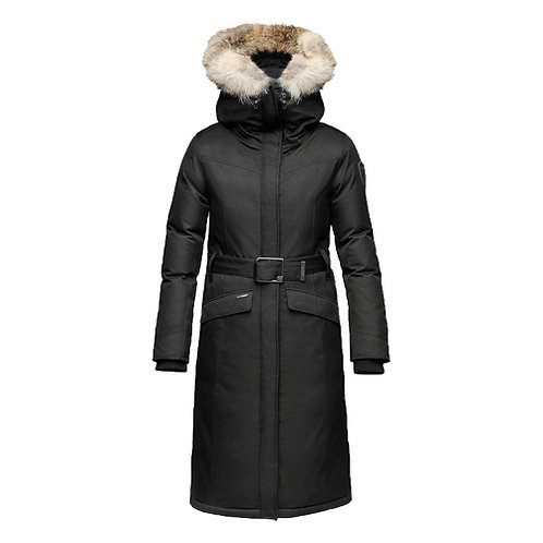 WOMEN'S MORGAN LONG COAT - CH BLACK