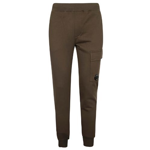 Diagonal Raised Fleece Lens Pocket Sweatpants 683 IVY GREEN